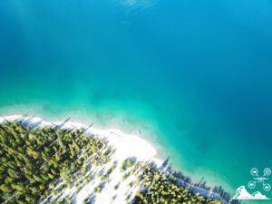 lake-minnewanka-banff-aerial